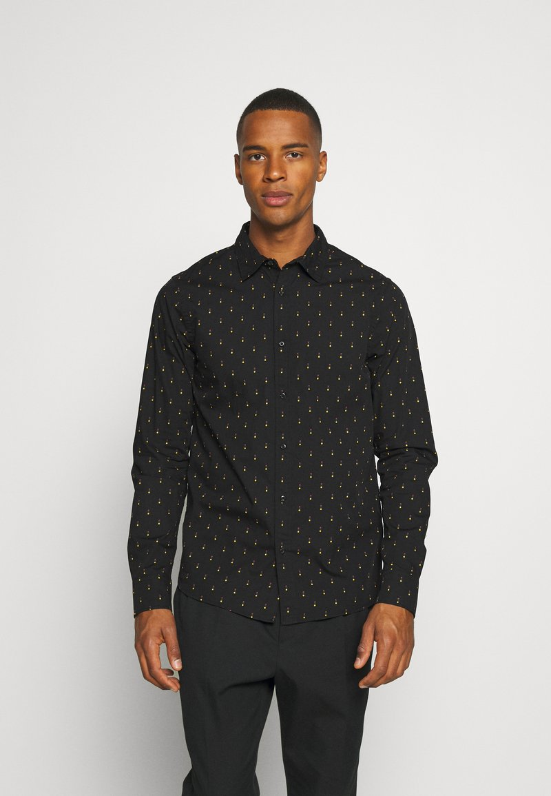 Scotch & Soda - REGULAR FIT - Skjorta - black