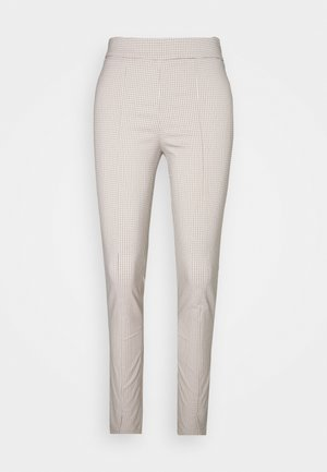 SIRA CHECK TROUSERS - Trousers - beige