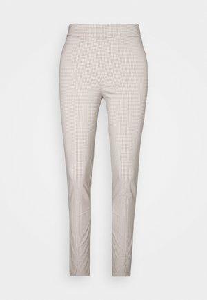 SIRA CHECK TROUSERS - Kalhoty - beige