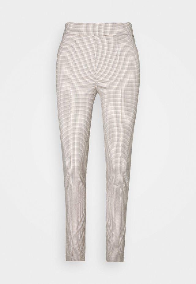 SIRA CHECK TROUSERS - Pantalon classique - beige
