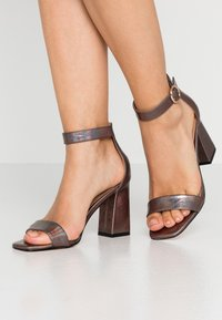 ONLY SHOES - ONLALYX - High heeled sandals - gunmetal - 0