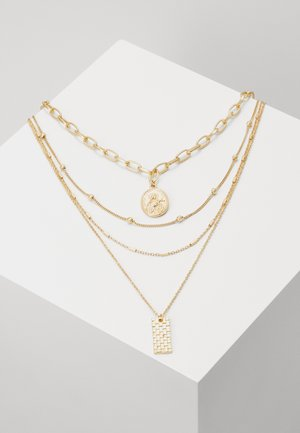 PCKLARA COMBI NECKLACE - Collana - gold-coloured