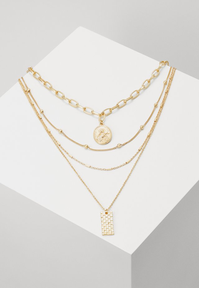 PCKLARA COMBI NECKLACE - Necklace - gold-coloured