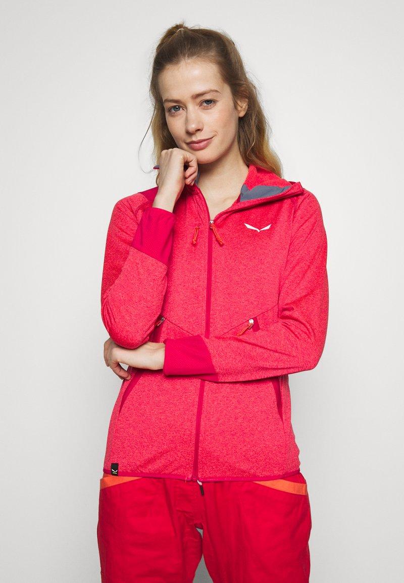 Salewa - AGNER HYBRID  - Fleece jacket - virtual pink melange