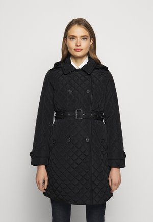 QUILTED  - Trenchcoat - black