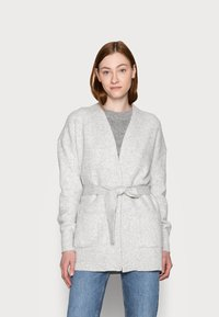 Gap Tall - BELTED OPEN SUPER PLUSH - Cardigan - grey - 2