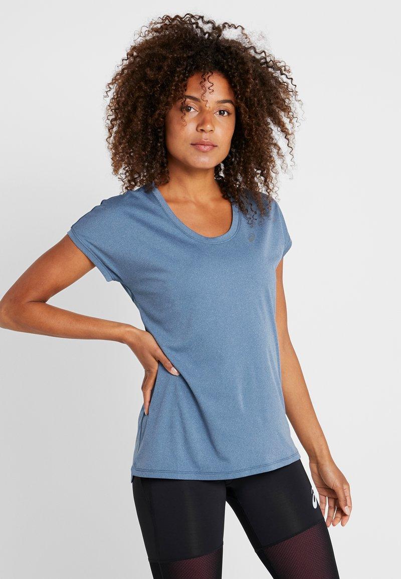ASICS - CAPSLEEVE - Print T-shirt - mako blue heather
