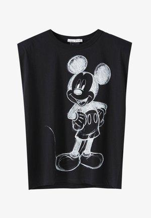 MICKY MAUS MIT SCHULTERPOLSTERN - T-shirts print - black