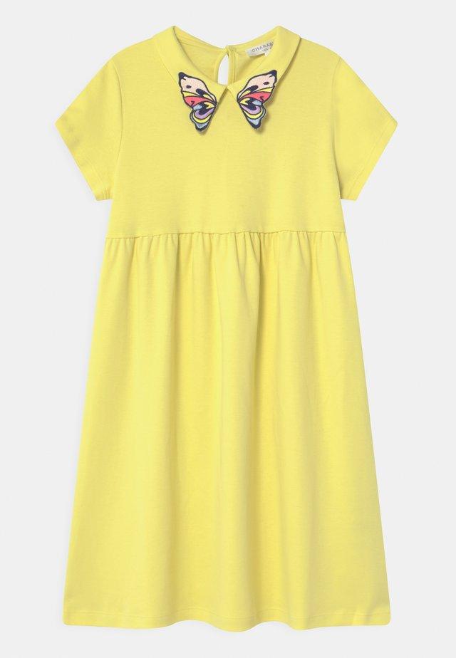 Žerzejové šaty - straw yellow