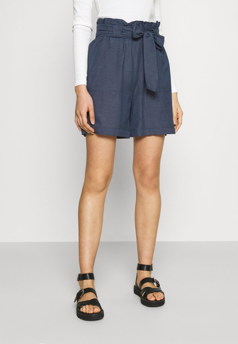 ONLY - ONLSMILLA VIVA LIFE LONG BELT  - Shorts - vintage indigo