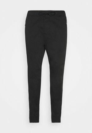 JOGGER TAPER - Trousers - black