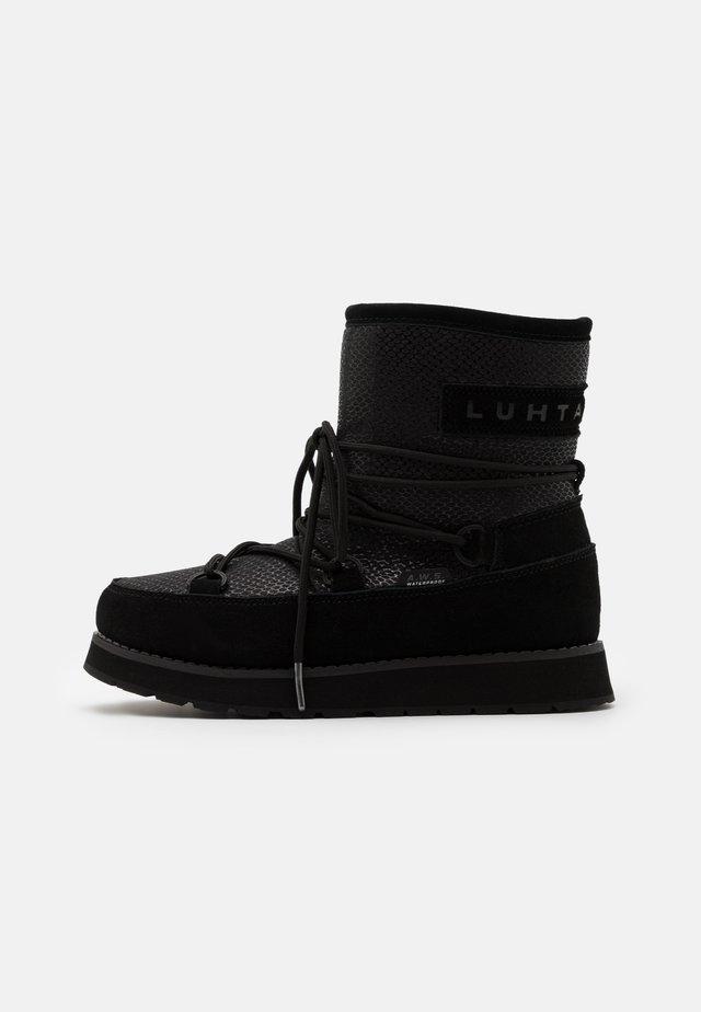 LUHTA NAUTTIVA - Vinterstøvler - black