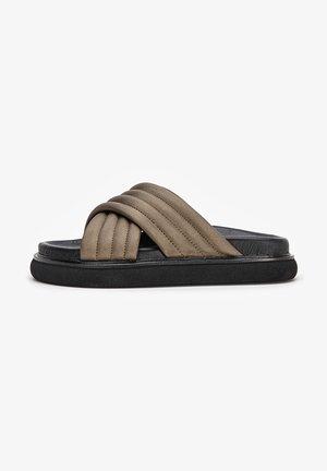 Pantoffels - bronze