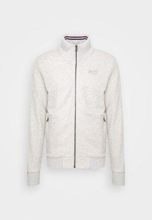 Zip-up hoodie - pale grey birdseye