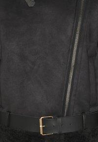 Object - OBJMANDY JACKET - Faux leather jacket - black - 2