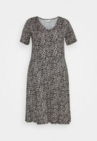 Kaffe Curve - KCMOVI DRESS - Trikoomekko - black - 3