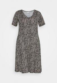 Kaffe Curve - KCMOVI DRESS - Jersey dress - black - 3