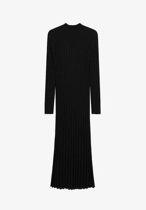 FLURRY - Pletené šaty - noir