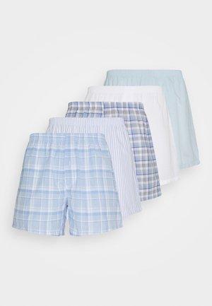 5 PACK - Boxershorts - light blue/white