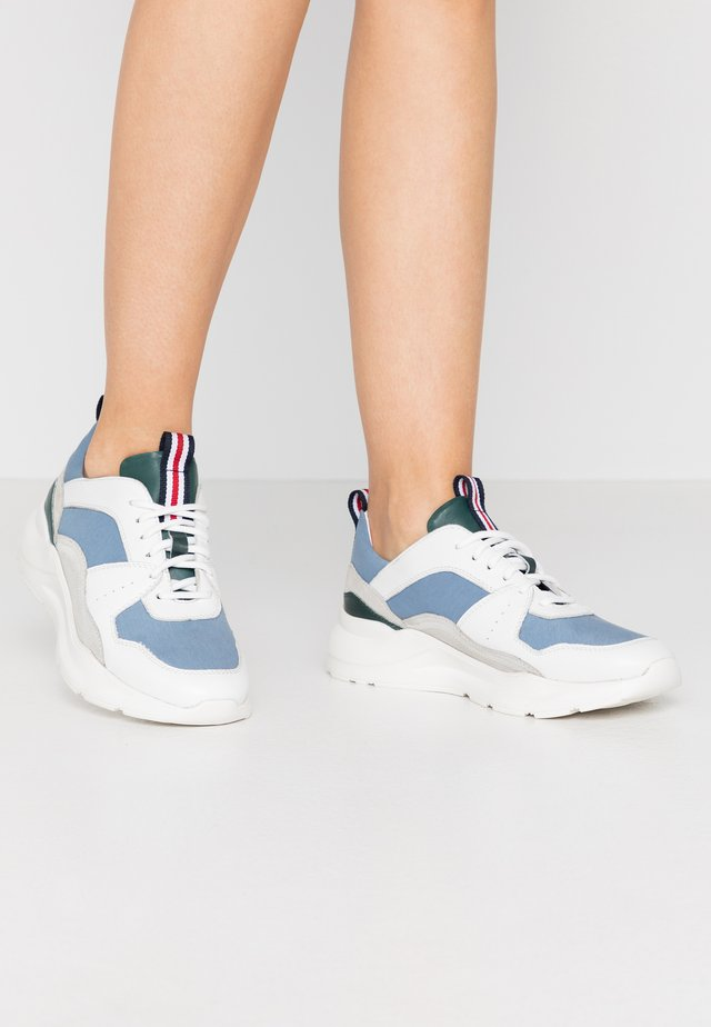 Sneakers laag - lightblue/offwhite