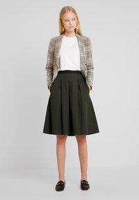 Opus - REJANA - A-snit nederdel/ A-formede nederdele - oliv green - 1