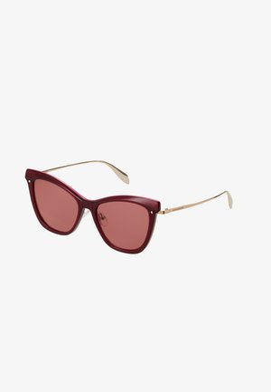 SUNGLASS WOMAN - Sunglasses - burgundy/gold-coloured/red