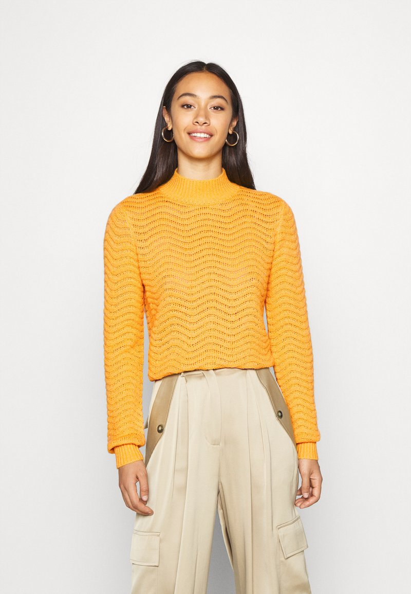 YAS - Strickpullover - old gold