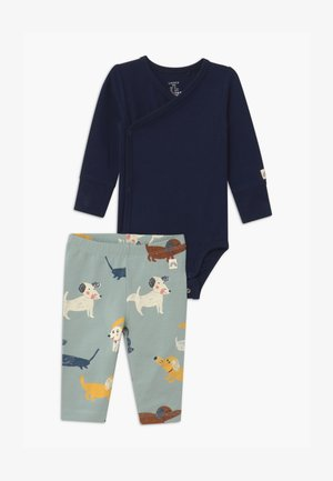 DOGS UNISEX SET - Leggings - Trousers - navy