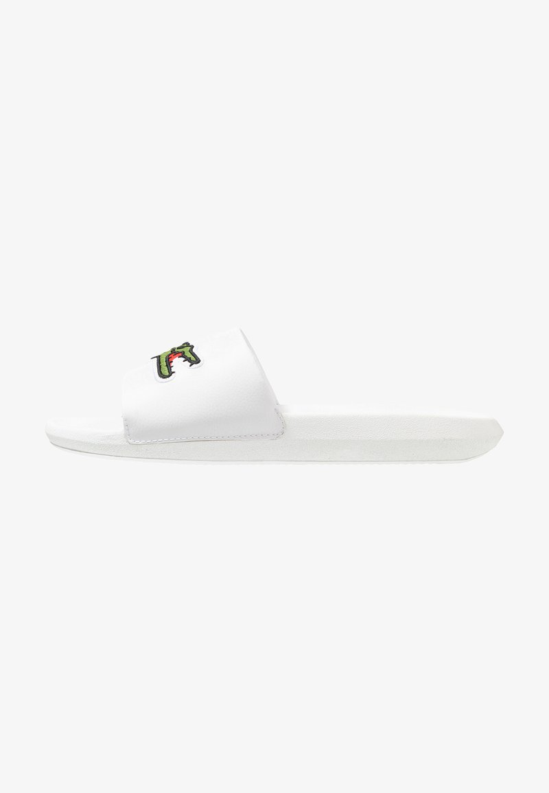 Lacoste - CROCO SLIDE - Slip-ins - white/green