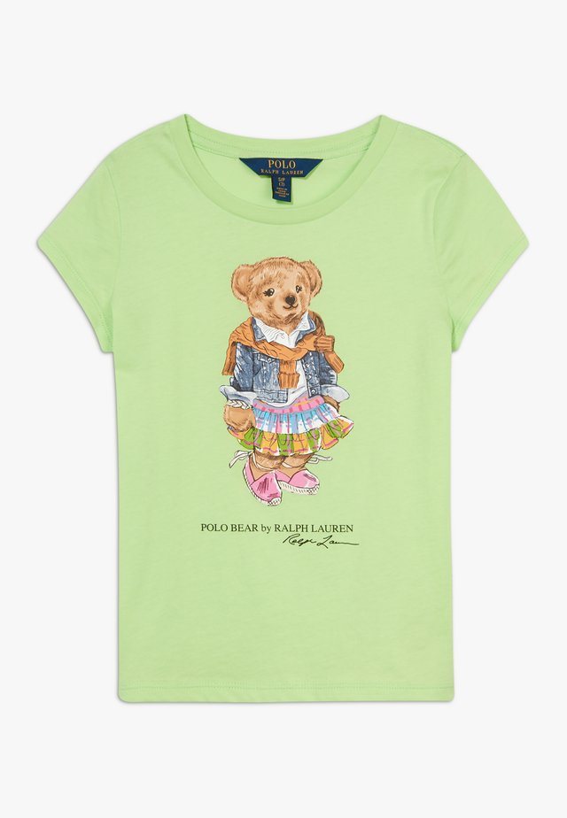 BEAR TEE - T-shirt z nadrukiem - key lime