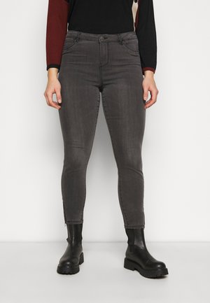 VMTILDE ANKLE ZIP  - Jeans slim fit - medium grey denim