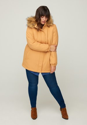 Winter coat - curry yellow