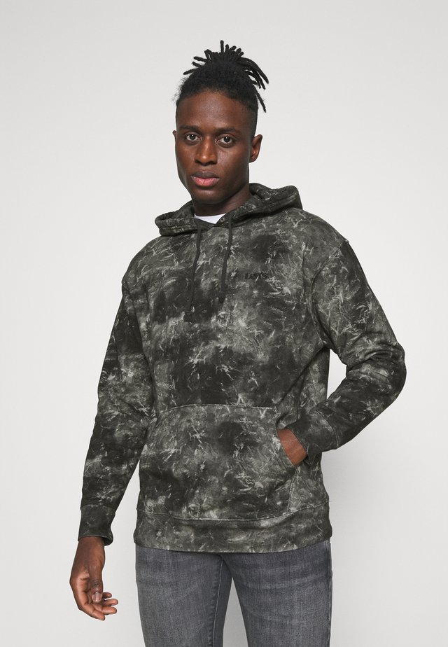 RELAXED FIT LOGO HOODIE UNISEX - Mikina skapucí - black