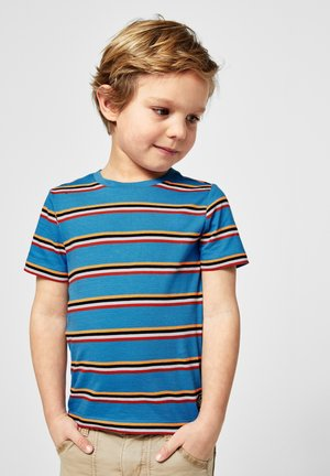 Print T-shirt - petrol stripes