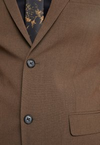 Lindbergh - PLAIN MENS SUIT - Suit - brown melange - 11