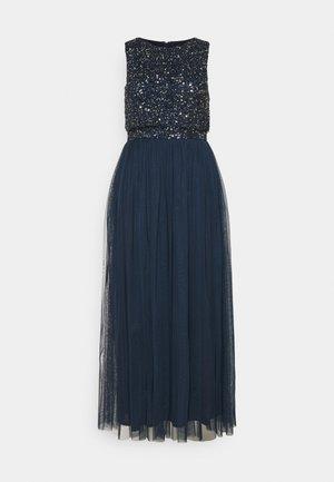 OVERLAY DELICATE SEQUIN DRESS - Koktejlové šaty/ šaty na párty - navy