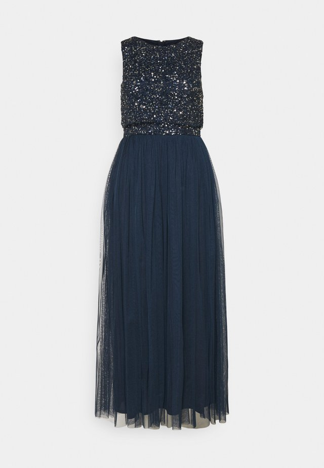 OVERLAY DELICATE SEQUIN DRESS - Cocktail dress / Party dress - navy