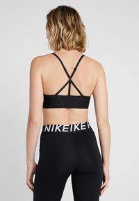 Nike Performance - BREATHE BRA LIGHT - Sports bra - black/white - 2