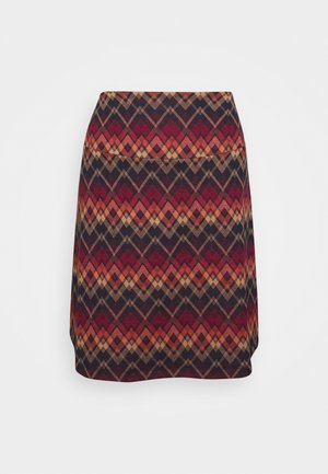 BORDER SKIRT GUSTO - A-line skirt - night blue