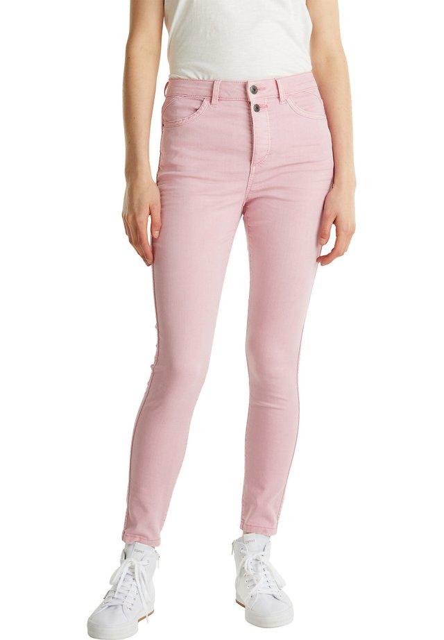 KNÖCHELLANGE STRETCH-PANTS - Jeans Skinny Fit - pink