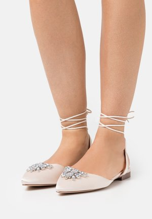 JULINA - Ankle strap ballet pumps - ivory