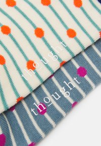 Thought - HOPE SOCKS 2 PACK - Socks - cream/sea blue - 1