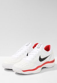 Nike Performance - AIR ZOOM CAGE - Clay court tennis shoes - white/black/university red - 2