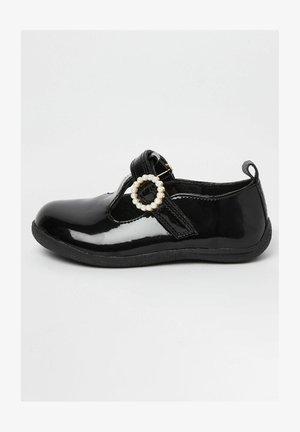 EMBELLISHED - Ankle strap ballet pumps - black