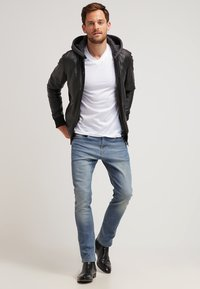 Oakwood - JIMMY - Leather jacket - noir - 1