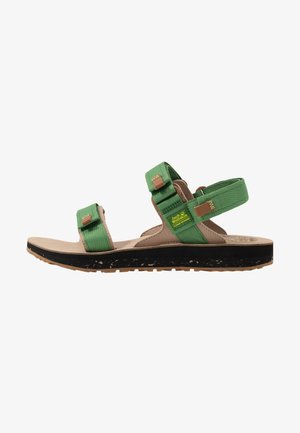 OUTFRESH DELUXE - Chodecké sandály - green/brown