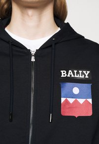 Bally - Zip-up hoodie - navy - 5
