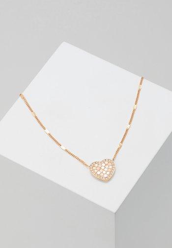 VINTAGE GLITZ - Necklace - roségold-coloured