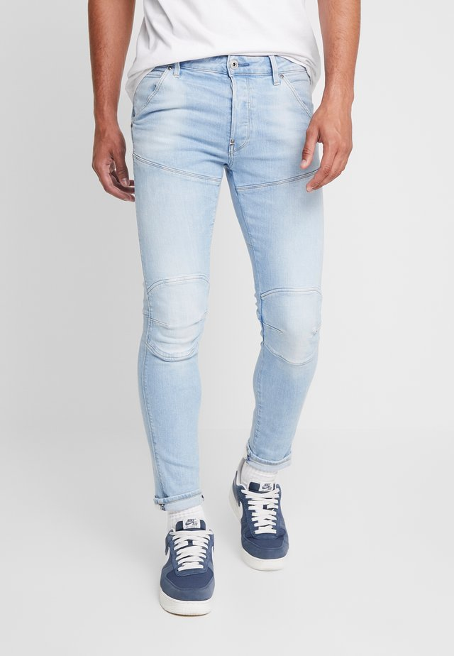 3D SLIM FIT - Jeans slim fit - azure stretch denim light aged