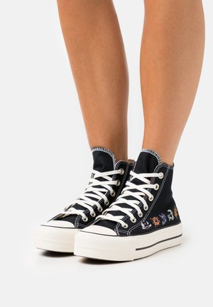 CHUCK TAYLOR ALL STAR LIFT - Sneakersy wysokie - black/egret/multicolor